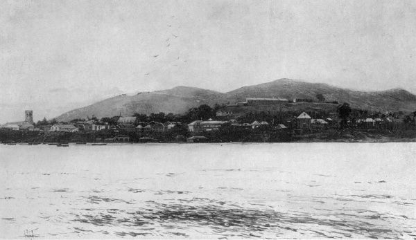 Freetown, Sierra Leone, pictured in 1898 during the Hut Tax War, an insurrection by the native population which was put down by West Indian troops in what was known as the Mendi expedition