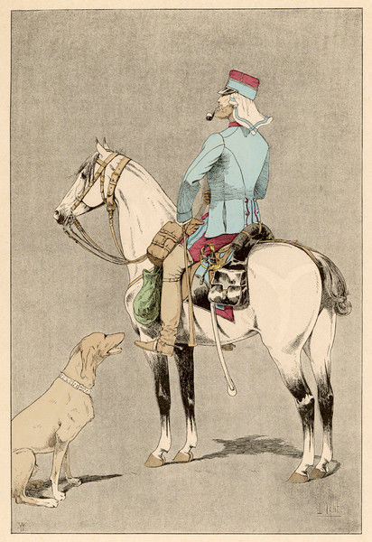 A mounted soldier of the French Colonial Cavalry (forerunner of the French Foreign Legion)
