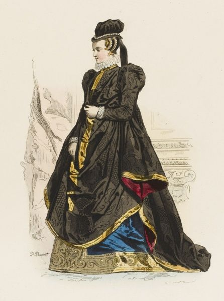 A lady of the French court during the reign of Charles IX