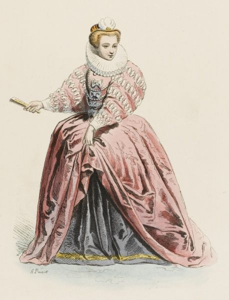 A lady of the French court during the reign of Henri III