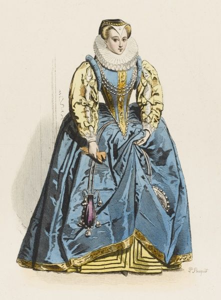A demoiselle of the court of Henri III