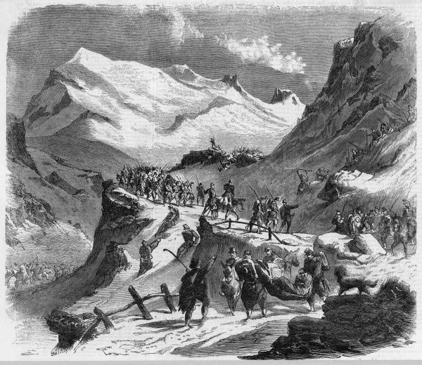 French forces enter Italy via the Mont Cenis pass
