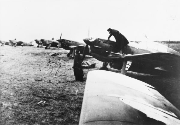 French MS-406 fighter planes built by Morane-Saunier for the air force during World War II