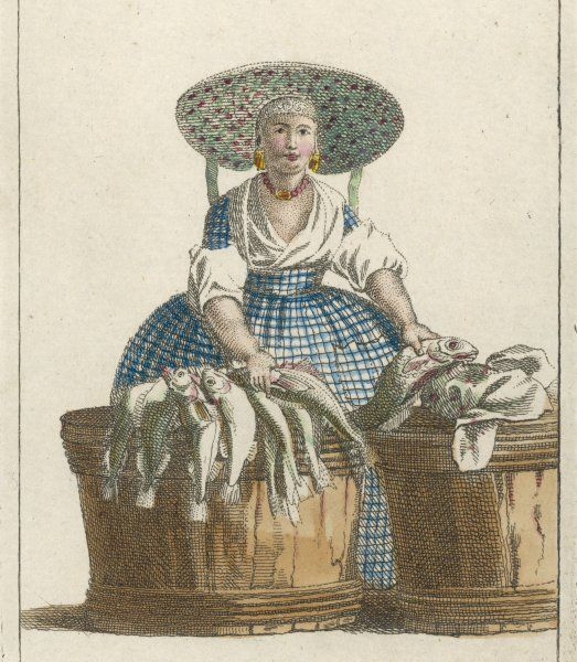 A French fishwoman