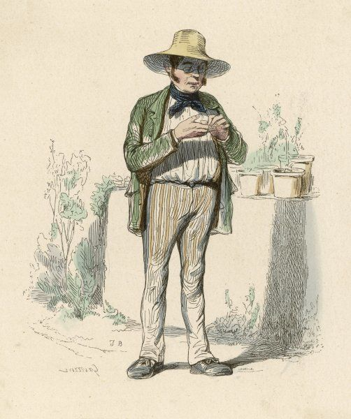 L'HORTICULTEUR a French gardener Date: 1850