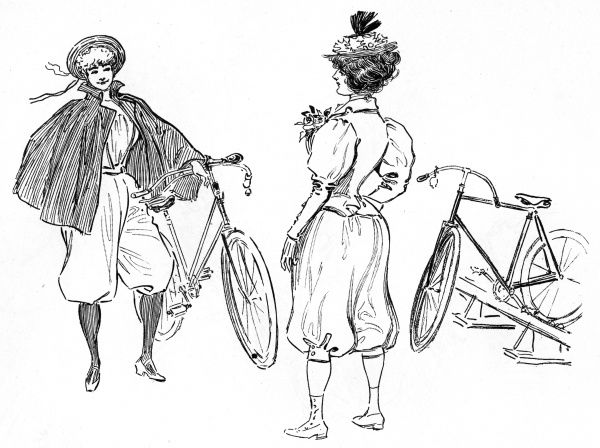 French lady cyclists of the 1890s. Date: 1890s