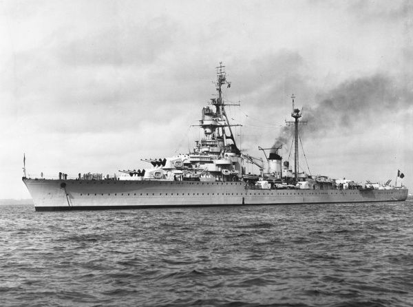 The 'Montcalm' was a French light cruiser of the La Galissonnire class that served with Vichy France and the Allied forces