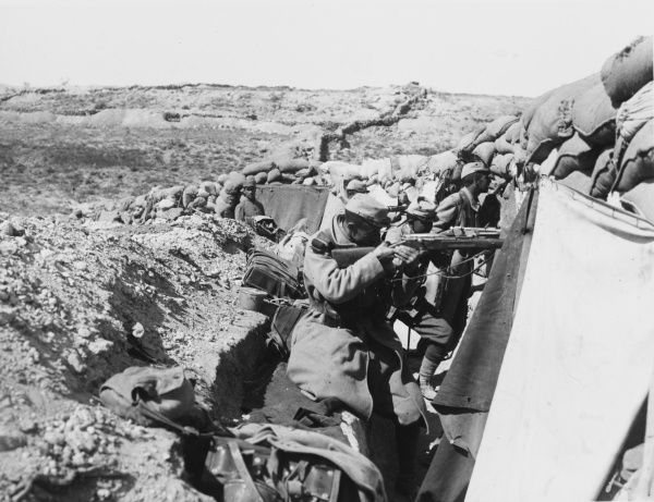 French troops at the front line on Gallipoli during World War I