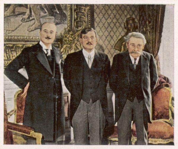 Poncet, Laval & Briand at Berlin - the first French ministers to visit there since 1878