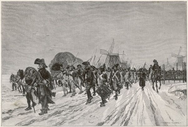 THE CONQUEST OF HOLLAND The French Revolutionary Army under Pichegru take advantage of the winter to invade Holland across the frozen dykes