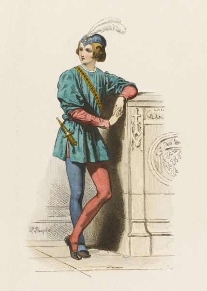 A page of the French court, in fashionable two-coloured hose