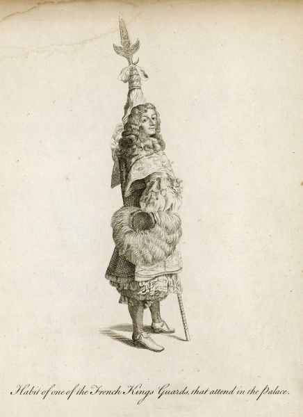 One of the French Kings guards that attend in the palace - possibly to Louis XIV