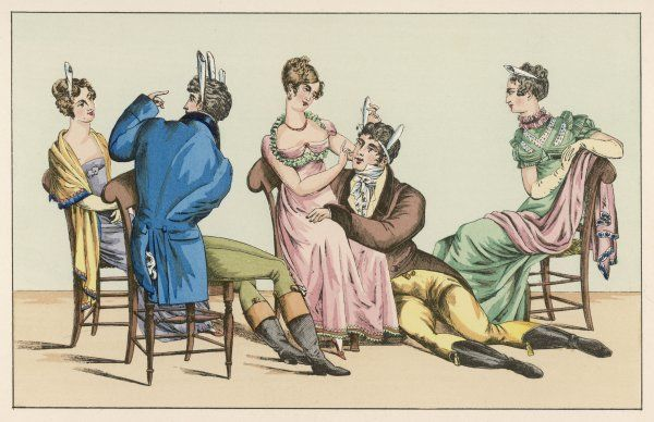 'Le Chevalier Gentil', a French parlour game involving repeated phrases