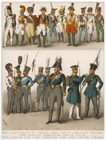 French and Prussian soldiers