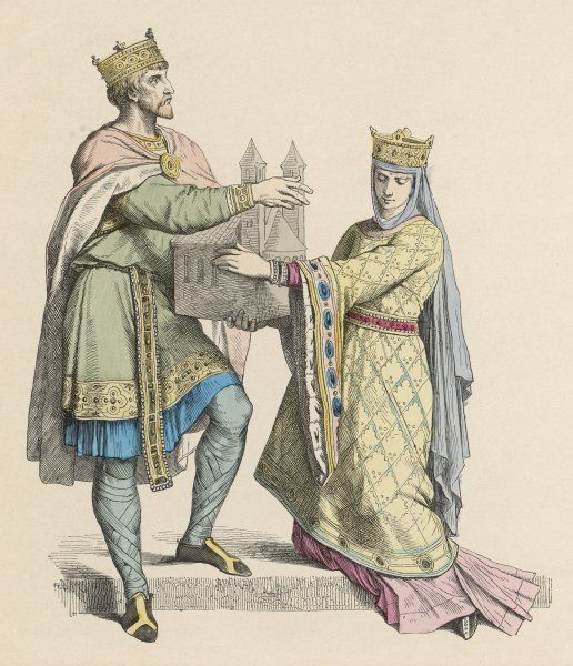 A French king and his queen (Charlemagne)