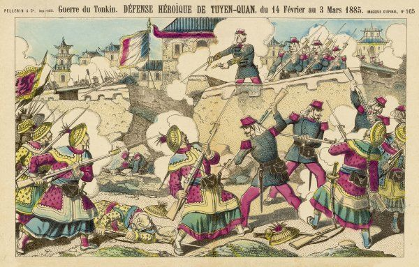 FRENCH IN TONKIN The Foreign Legion, with Algerian and friendly Chinese troops, valiantly defend Tuyen-Quan against the Chinese besiegers