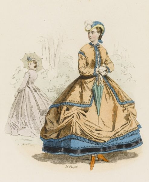 Frenchwoman in a crinoline during the reign of Napoleon III
