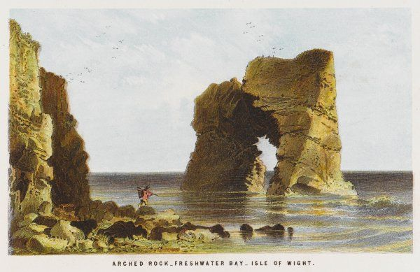 The arched rock in Freshwater Bay