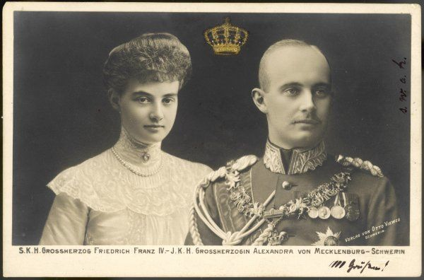 FRIEDRICH FRANZ IV Grand Duke of Mecklenburg- Schwerin, and his wife ALEXANDRA