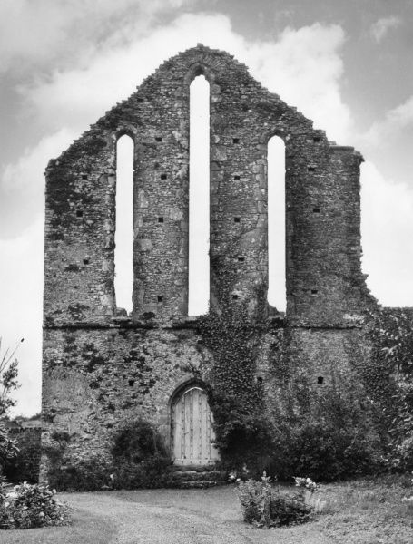 The ruins of Frithelstock Abbey, near Great Torrington, North Devon, England. Date: 12th century