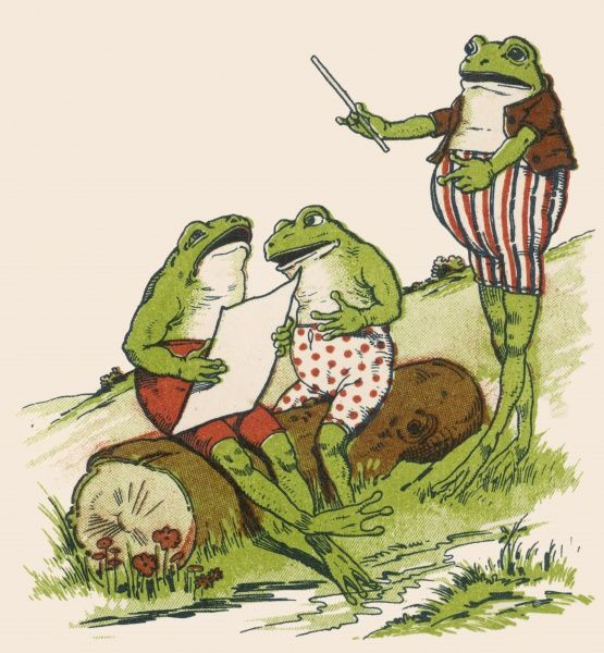 Frogs sing 'Love in May&#39