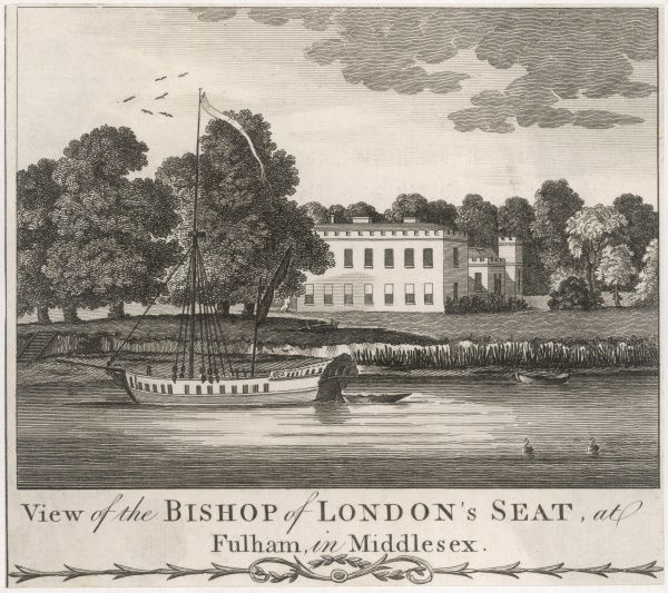 'View of the Bishop of London's Seat at Fulham in Middlesex&#39