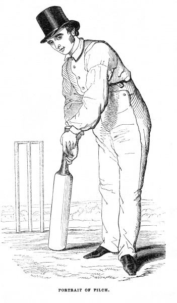 FULLER PILCH A member of the Kent cricket team. Date: mid 19th century