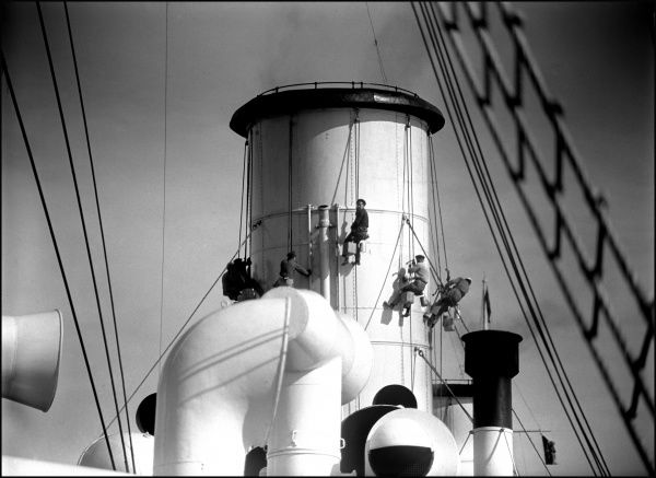 The funnel of an unidentified steamship. Photograph by Ralph Ponsonby Watts