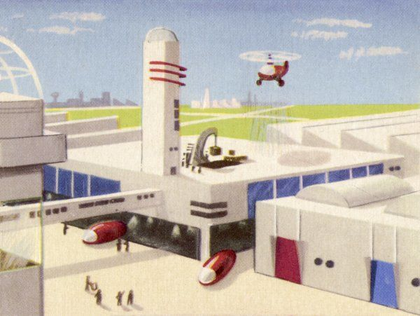 MOTOR FACTORY WITH PROVISION FOR HELICOPTERS TO LAND ON THE ROOF