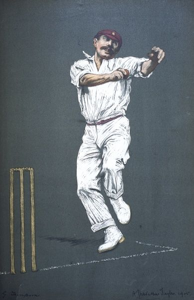 George J Thompson - cricketer for Northamptonshire and England. Test official (umpire) 1922/23