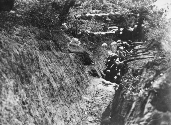 A manned trench at Gallipoli during World War I