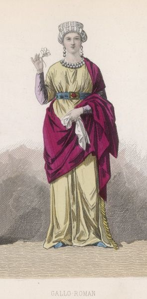 A woman of the Gallo-Roman period (i.e. during the occupation of Gaul by the Romans)