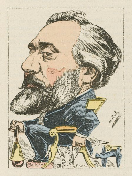 LEON MICHEL GAMBETTA French lawyer and statesman: a satirical depiction