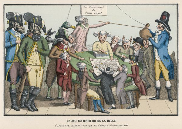 The game of chance, taken from a satire on the revolutionary period