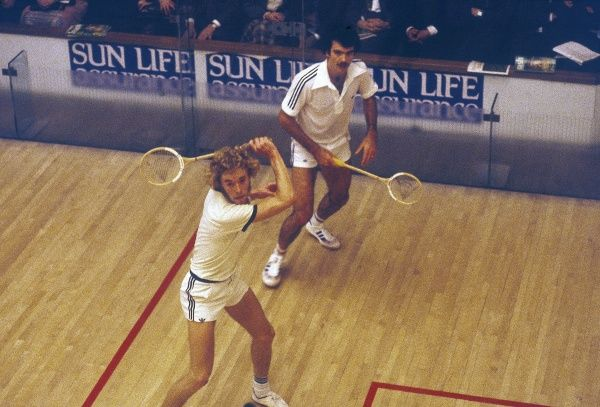 Two men having a game of Squash. Date: 1980