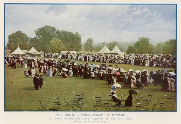 People at a royal garden party at Windsor