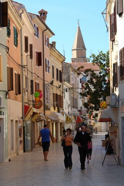 The picturesque Via Garibaldi, in the small port town of Umag, on the north west coast of Istria