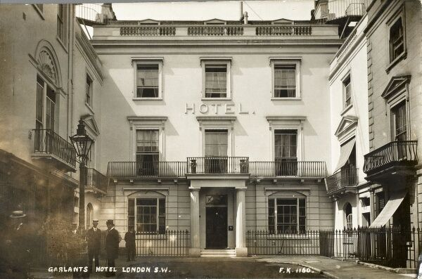 Garlants Hotel - at the end of Suffolk Street, tucked between Trafalgar Square and Haymarket / Pall Mall, London SW1. The building still exists, although it is no longer used as a Hotel