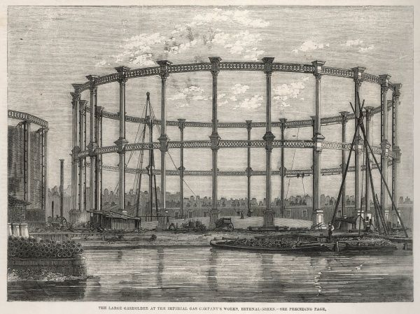 Gas Holder of Imperial Gas Company, Bethnal Green, London