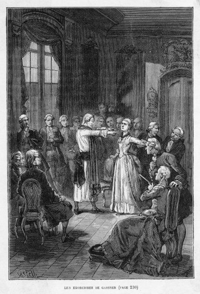 GASSNER cures his subject Emilie by exorcism at Ellwagen, Germany