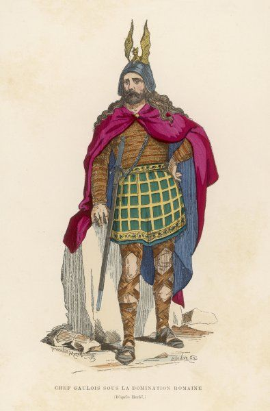 A GAULISH CHIEF during the Roman occupation of France