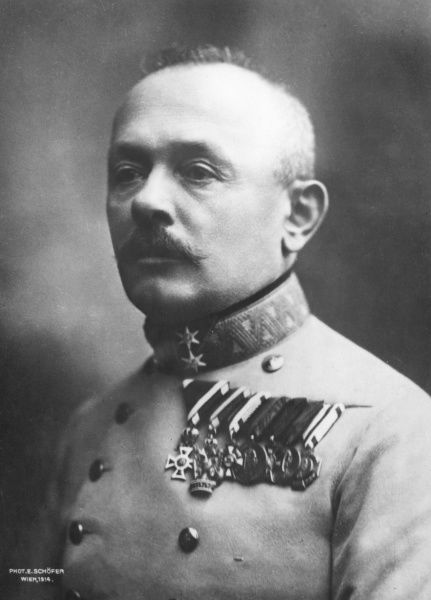 Svetozar Boroevic (or Borojevic) von Bojna (1856 1920), Croatian- born Austro-Hungarian field marshal in World War One. Date: 1914