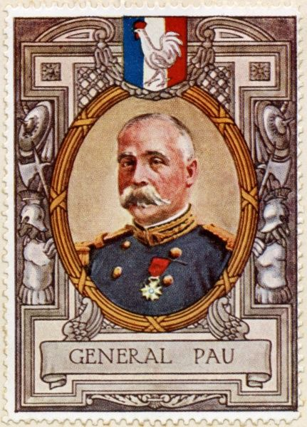 General PAUL MARIE CESAR GERALD PAU, (1848 - 1932) French General, commander of the army of Alsace during the first world war
