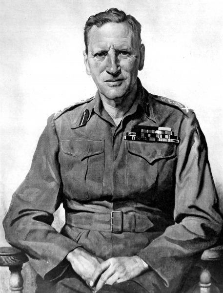 Portrait of Sir Claude John Eyre Auchinleck, the English soldier who was made Field-Marshal in 1946, pictured in 1945 when he was Commander-in-Chief in India