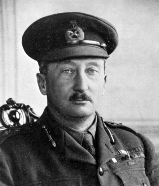 General Sir Hubert de la Poer Gough (1870-1963), senior British Army officer during the First World War. He commanded the British Fifth Army from 1916 to 1918. Date: 1918