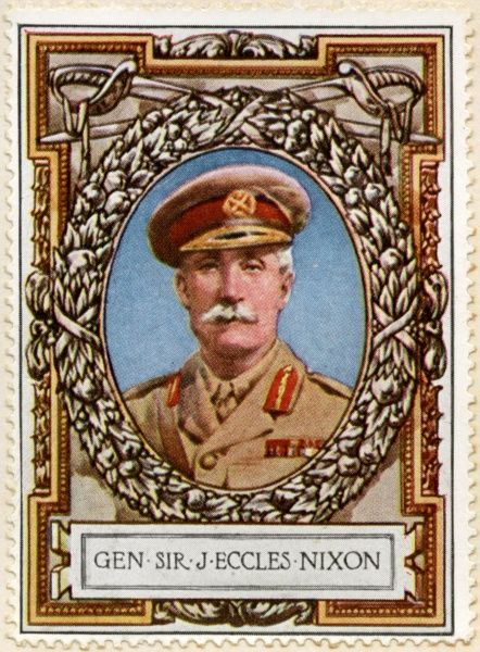 Lieutenant-General SIR JOHN ECCLES NIXON (1857 - 1921) Senior commander of the British Indian Army who gave the orders for the ultimately disastrous first British Expedition against Baghdad during World War I