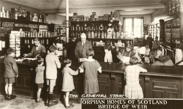 The general store at the Orphan Homes of Scotland, Bridge of Weir, Renfrewshire