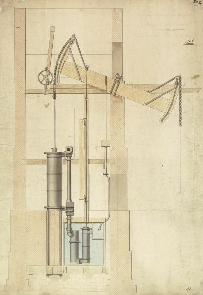 General view of the engine, Borough Water Works Date: 1796
