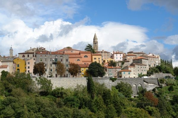 General view of Labin, near the western coast of Istria, Croatia