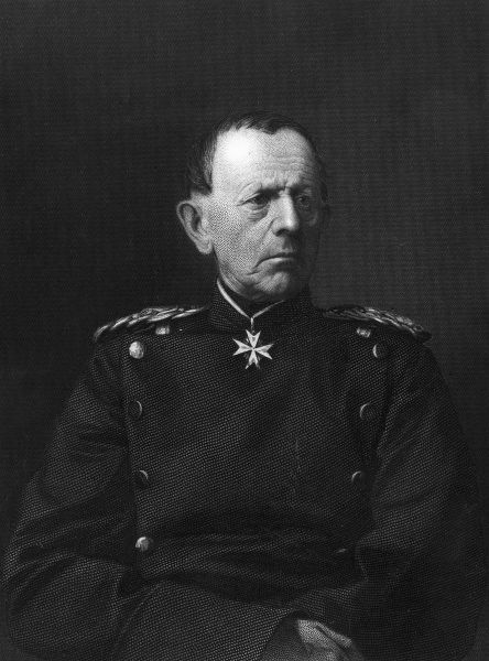 Helmuth Karl Bernhard Graf von Moltke (1800-1891), German Field Marshal and Chief of Staff of the Prussian Army during the Franco-Prussian War. Date: 1870